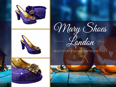 Emma purple wedding shoes and matching bag set @maryshoeslondon