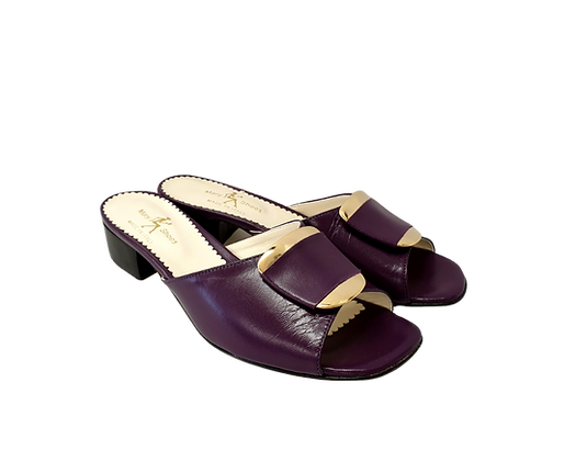 Abby, Mary Shoes purple low heel sandals