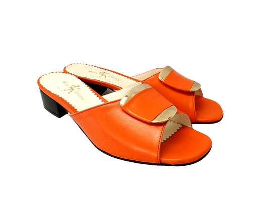Abby, Mary Shoes orange low heel sandals