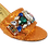 Thumbnail: Valerie,  jewel embellished orange wedding sandals and matching bag
