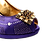 Thumbnail: Emma, MaryShoes purple low heel wedding shoes and matching bag set