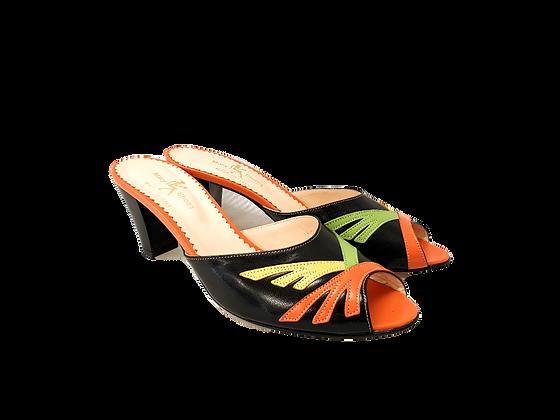 Alice, multicolour mid block heel sandals
