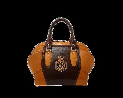 Liberty, Cerruti brown & camel leather tote handbag