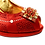 Thumbnail: Emma, Mary Shoes red low heel wedding shoes and matching bag set