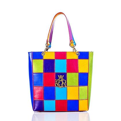 Multicolour Cerruti Leather Chess Handbag