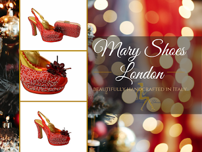 Handcrafted Italian red-crystal shoes @maryshoeslondon