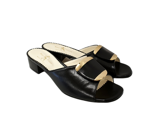 Abby, Mary Shoes black low heel sandals
