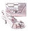 Thumbnail: Solen, Salgati silver mid-height strass wedding set