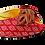 Thumbnail: Chiara, burgundy stone adorned low heel wedding shoes and bag