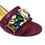 Thumbnail: Valerie,  jewel embellished magenta wedding sandals and matching bag