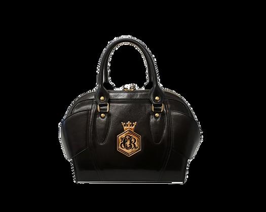 Liberty, Cerruti black leather tote handbag