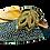 Thumbnail: Chiara, emerald stone adorned low heel wedding shoes and bag