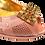Thumbnail: Emma, blush low heel wedding shoes and matching bag set