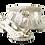 Thumbnail: Sharon, Salgati silver low heel wedding shoes and matching bag set