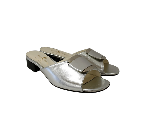 Abby, Mary Shoes silver low heel sandals