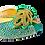 Thumbnail: Chiara, green stone adorned low heel wedding shoes and bag