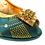 Thumbnail: Emma, emerald low heel wedding shoes and matching bag set