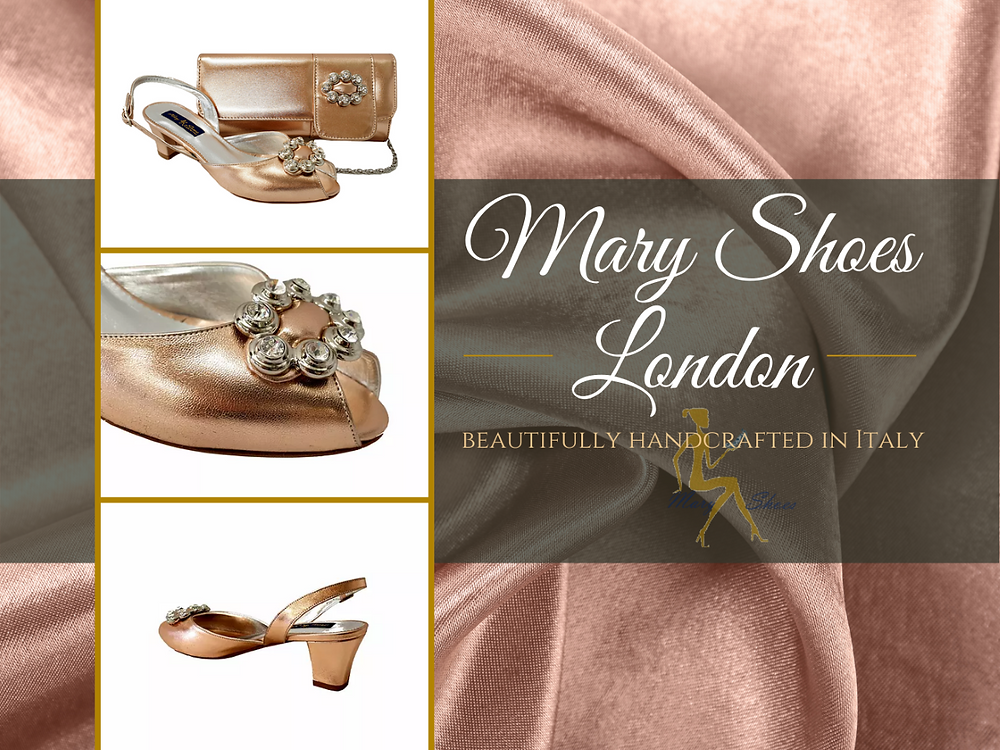 Francesca, handcrafted rose-gold occasion shoes