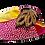 Thumbnail: Chiara, magenta stone adorned low heel wedding shoes and bag