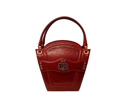 Cerruti 'Crown' red limited edition leather handbag