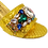Thumbnail: Valerie,  jewel embellished yellow wedding sandals and matching bag