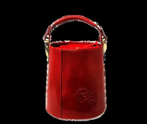 Cerruti Leather Red Bucket Handbag