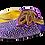 Thumbnail: Chiara, purple stone adorned low heel wedding shoes and bag