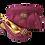 Thumbnail: Sharon, Salgati magenta low heel wedding shoes and matching bag set