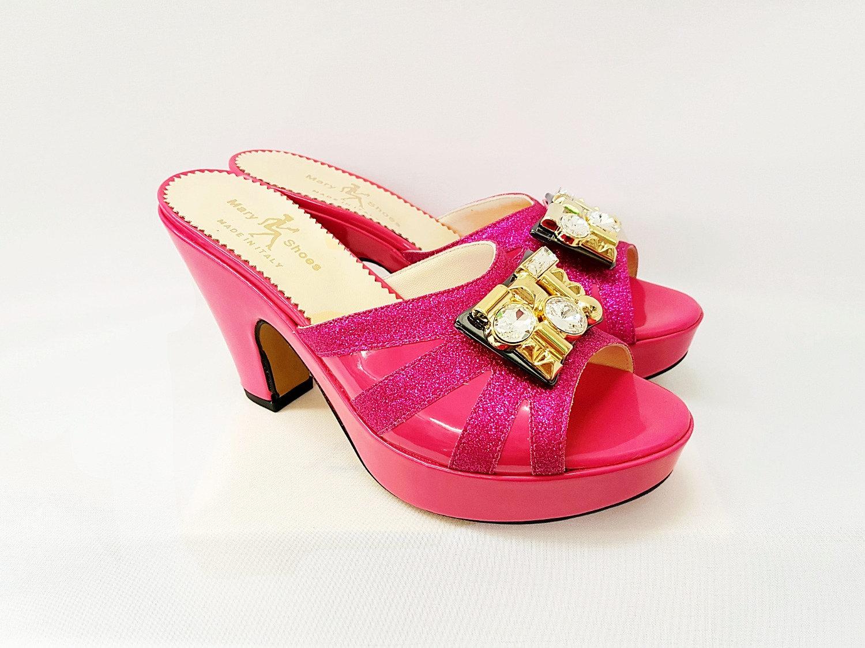 SandalsLondon Pink Leather Shoes Platform Mary tsrdhQ