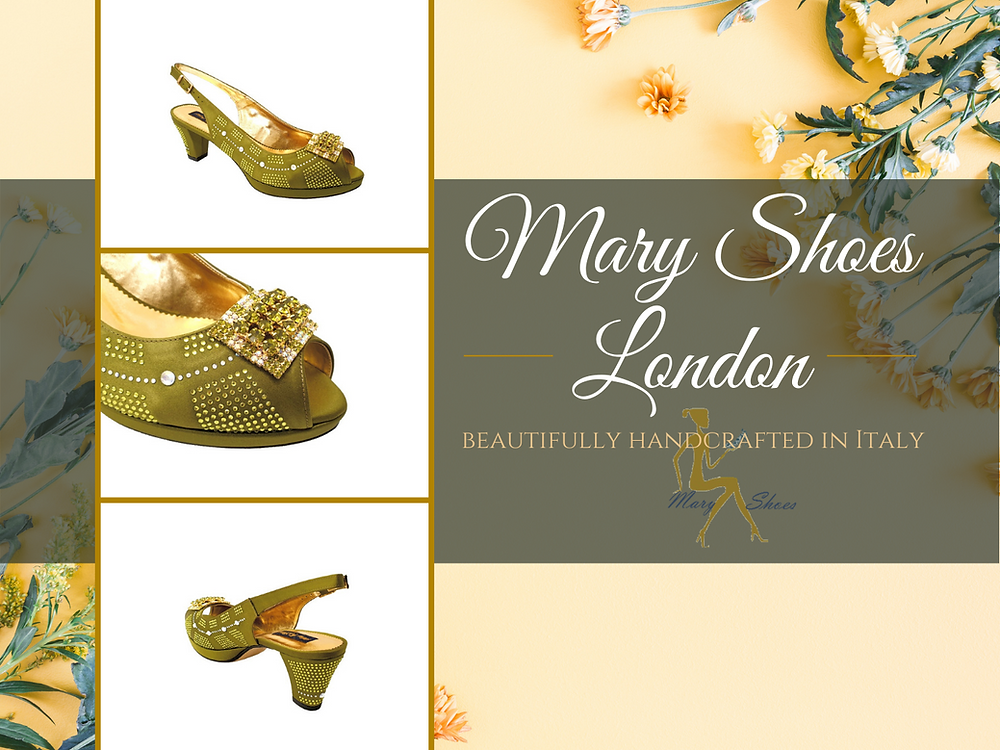 Olive green low heel wedding shoes exclusively designed by @MaryShoesLondon
