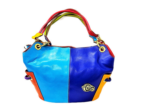 Cerruti Multicolour Leather Large Tote Bag