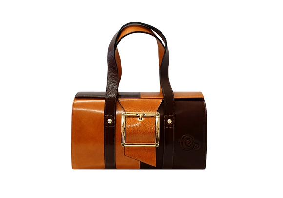 Cerruti brown and camel handbag