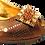Thumbnail: Emma, brown low heel wedding shoes and matching bag set