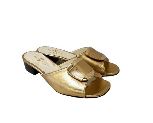 Abby, Mary Shoes gold low heel sandals