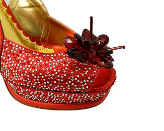 Salgati, Cinderella,red crystals bridal