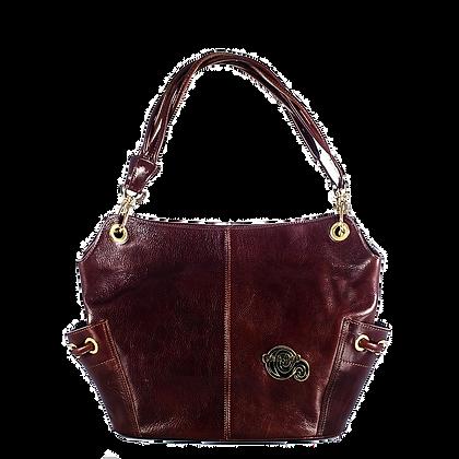 Cerruti Brown Leather Large Tote Bag