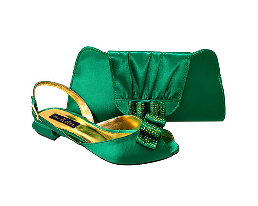 Ava, Mary Shoes green very low wedding shoes and matching bag