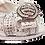 Thumbnail: Florence, Salgati silver low heel platform wedding shoes and bag set