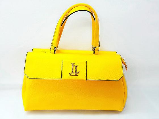 Lavinia Medium Yellow Tote Textured Leather Handbag