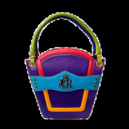 Cerruti 'Crown' multicolour limited edition leather handbag