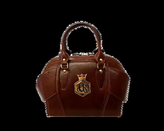 Liberty, Cerruti brown leather tote handbag