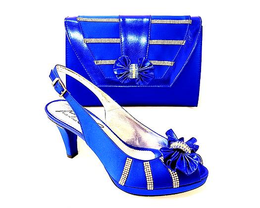 Solen, Salgati blue mid-height strass wedding set