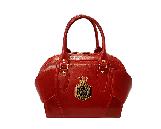 Liberty, Cerruti red leather tote handbag