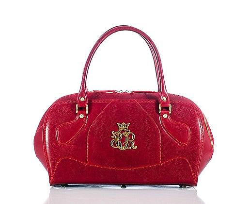 Red Cerruti Leather Tote Bag