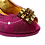 Thumbnail: Emma, Mary Shoes magenta low heel wedding shoes and matching bag set