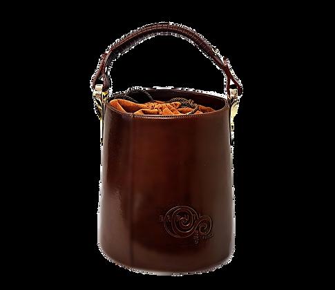 Cerruti brown leather Bucket Handbag