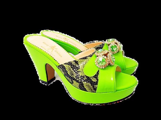 Lemon Mary Shoes croc-effect leather sandals