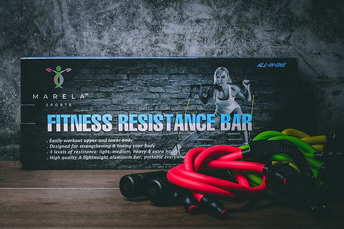 Fitness Resistance Bar - Resistance Bands with Bar