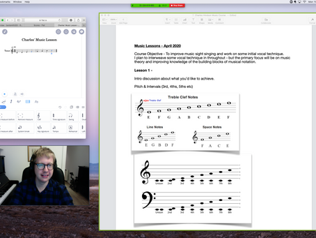 Loving Music Theory sessions on Zoom