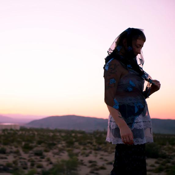 """Evie w/ a Mojave Sunset"" // Joshua Tree, CA - 2018"